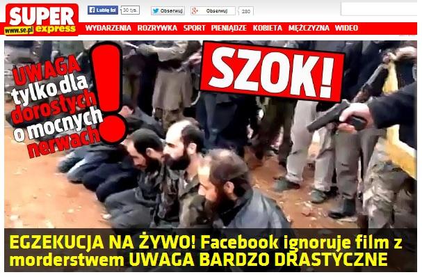 Egzekucja. Tylko czyja? To nieistotne, ważne że ludzie zechcą obejrzeć. Źródło se.pl